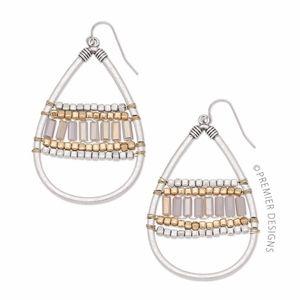 """Premier Designs Cleo Earrings 2-5/8"""" Teardrop"""